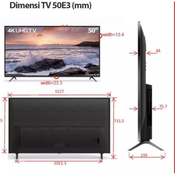 Ready  Harga Diskon ➤  TCL LED TV 50 inch 50E3 Smart TV UHD 4K Netflix,Youtube Dolby Sound ⁂