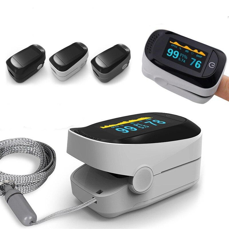 (Black )Medical Finger Pulse Oximeter with Case Fingertip Pulse Oximeters Saturator Blood Oxygen Saturation Monitor Health Care Tool LLT Store