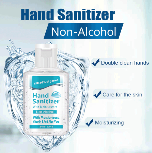 Pearly (Ready Stock) 1/3Pcs 60ML Portable Disposable Hand Gel Quick-drying Hand Sanitizer Gel Disposable Alcohol-free Bacteriostatic Care Of The Skin, Effective Clean Hand Soap Gel