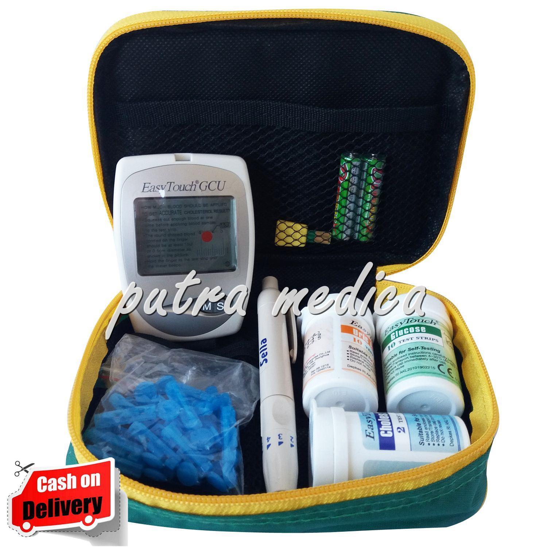 Putra Medica Easytouch Gcu 3in1 Alat Cek Gula Darah, Kolesterol & Asam Urat / Alat Tes Diabet / Alat Cek Diabetes By Putra Medica