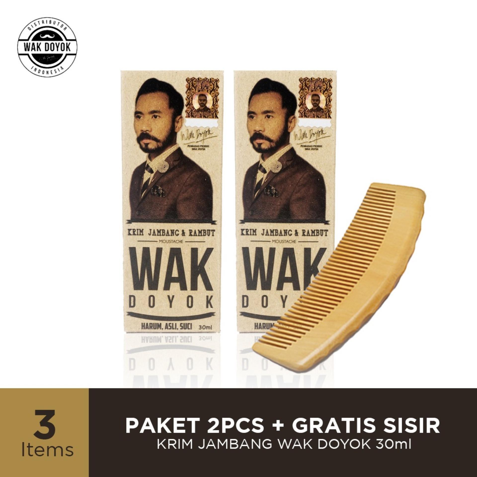 PROMO Special paket 2 pcs Wak Doyok Cream 30ml GRATIS 1Pcs Sisir Kayu - Wakdoyok Krim