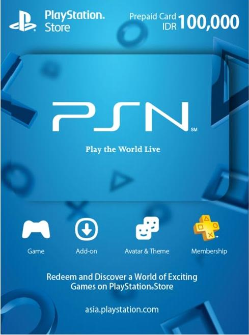 Psn Card Idr 100,000 By Hitengaming.