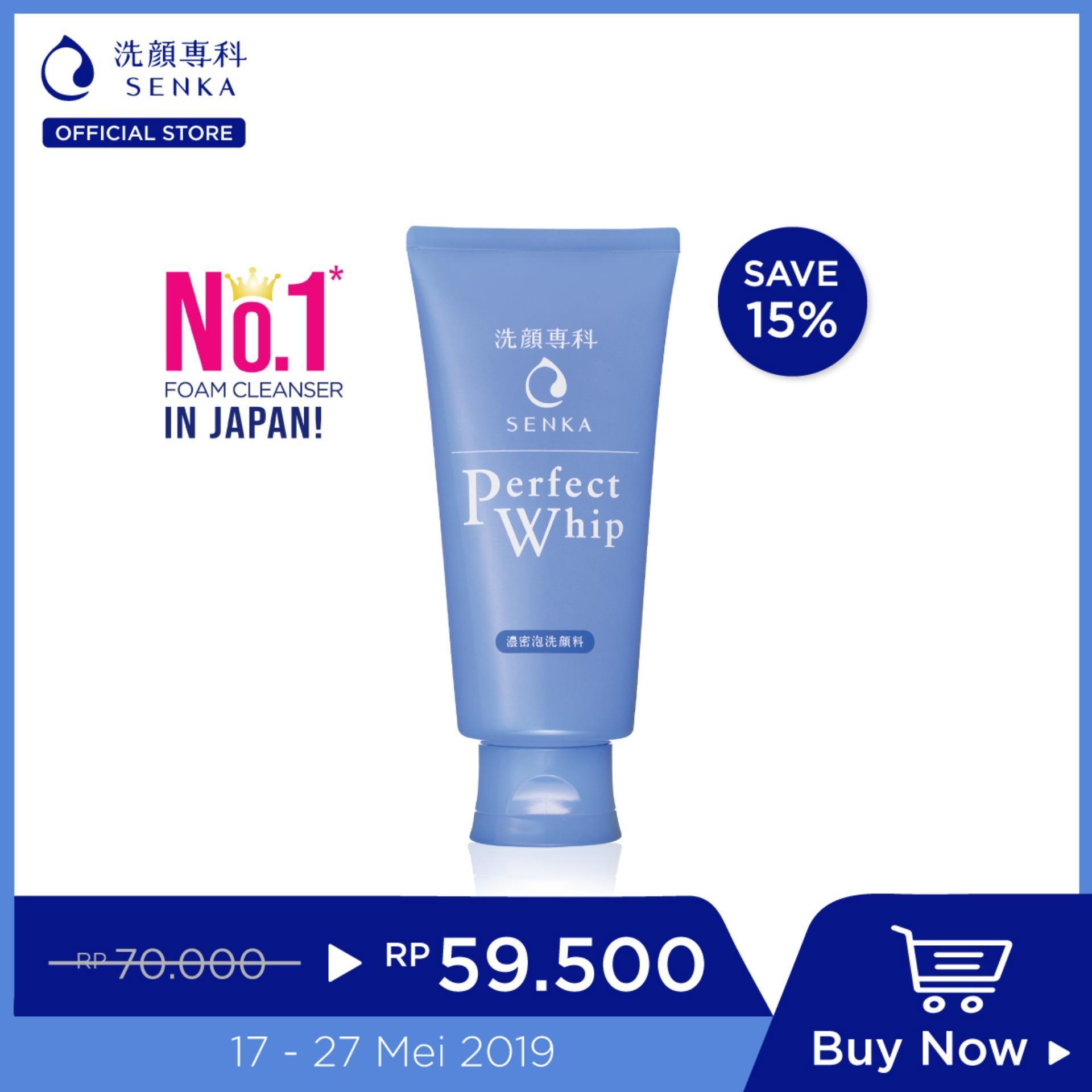 [Best Seller] SENKA Perfect Whip Daily Cleanser for All Skin Type 120g