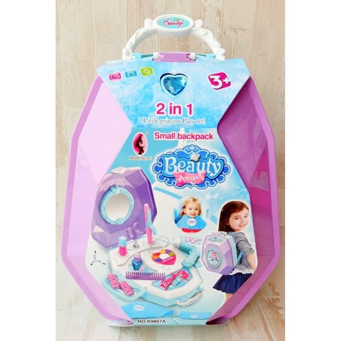 Mainan Anak Perempuan 2in1 Beauty Dresser Back Pack K9867a Mainan Anak Make Up Lazada Indonesia