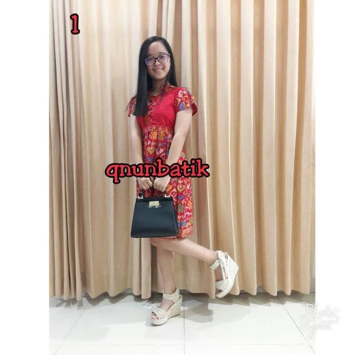 DRESS TERUSAN BATIK TANGGUNG 9-11TH ANAK CEWEK PEREMPUAN MENTARI PRODO / DZA Laris Fashion