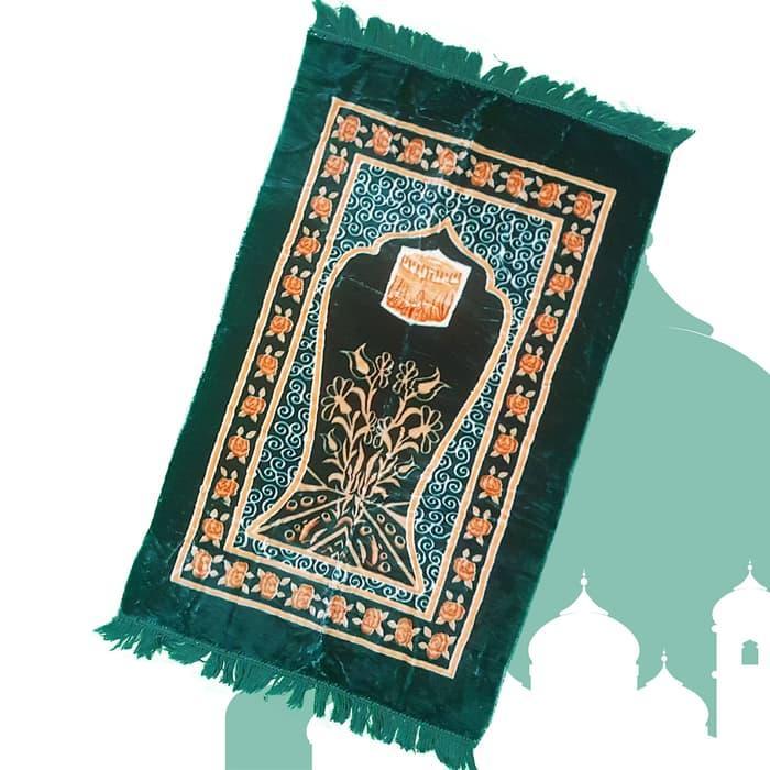 (PROMO) SAJADAH WOOL AL FAJAR SUPER MOTIF KA'BAH - HIJAU / SAJADAH TEBAL/MURAH/TURKI/BULU/BUSA/EMPUK/ANAK/TRAVEL/KECIL/BUSA TEBAL