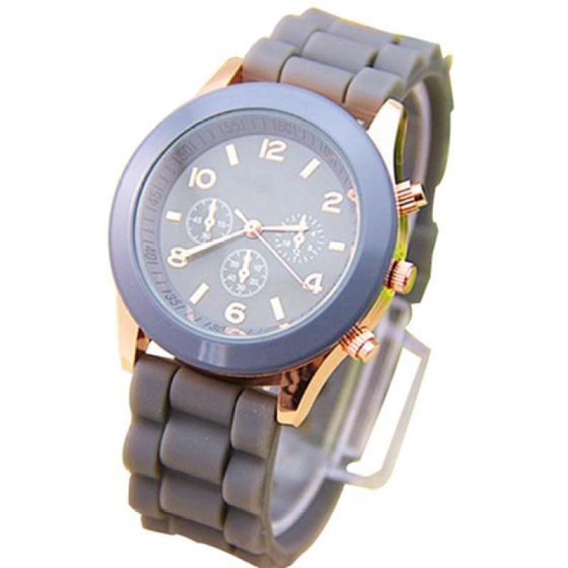Ladies Watch Classic Gel Silicone Jelly watch Gray Malaysia