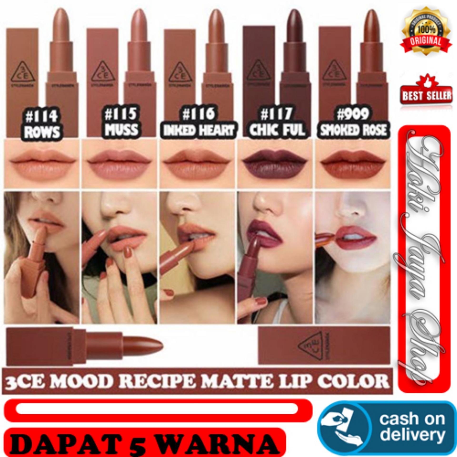 HOKI COD - 3CE NUDE - KOREA Lipstick Mood Recipe Lip Color Mini Kit 5in1-
