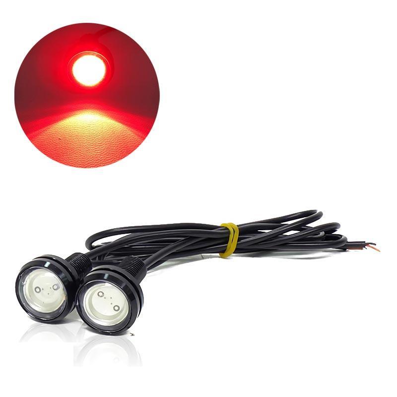 OTOMOBIL [22 MM][2 PCS] TE LAMPU LED MATA ELANG Eagle Eyes Racing Mobil Motor  Merah