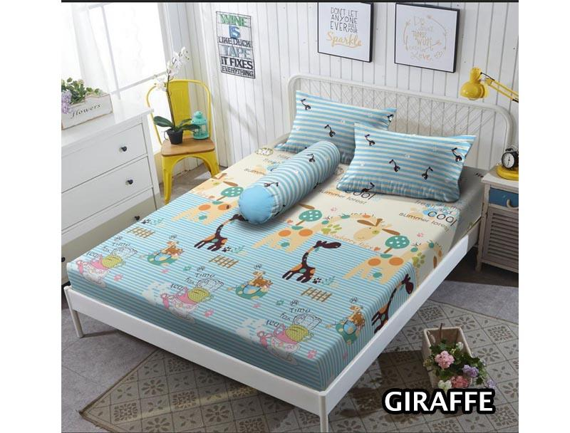 Sprei Kintakun D'luxe motif GIRAFFE Ukuran 180x200 King Size new kids anak remaja