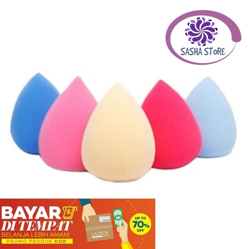 SS TELOR Beauty Blender Sponge Model Telor  / Make Up Sponge Spons Random Color / Beauty Blender Telur - 1 Pcs