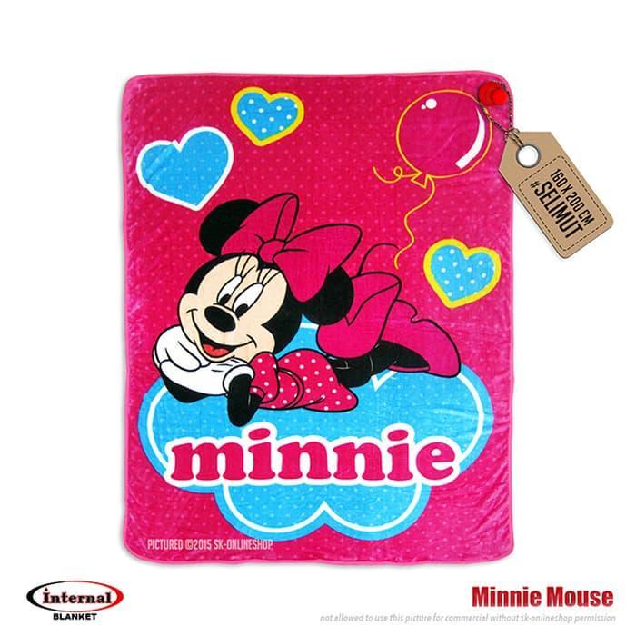 TERLARIS selimut internal minnie mouse /selimut karakter/selimut anak/internal - sTRiHelz