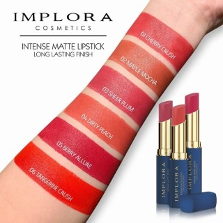 LAKUCOD ORIGINAL Implora Intense Matte Lipstick Long Lasting Finish BPOM Implora Lipstick TERMURAH lipcream anti air tahan lama Kecantikan Makeup Bibir Lipstick thumbnail
