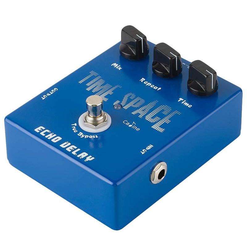 Caline CP-17 Echo Delay Guitar Effects Pedal Time Space Bass Distortion True Bypass Blue
