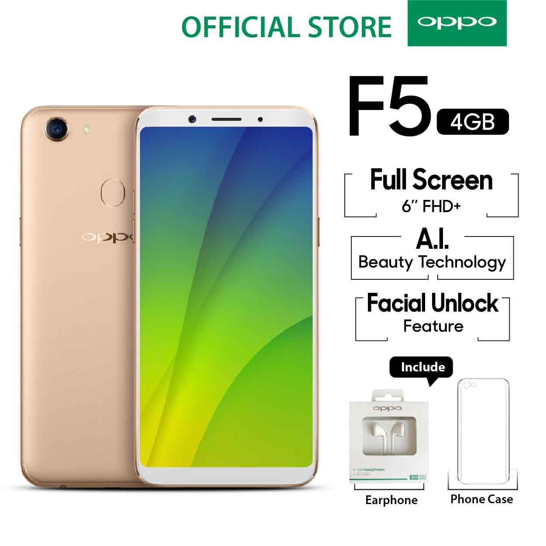 Oppo F5 Smartphone 20 MP AI Beauty Tech 4GB 32GB Gold - (Cicilan TANPA 92f92e00c9