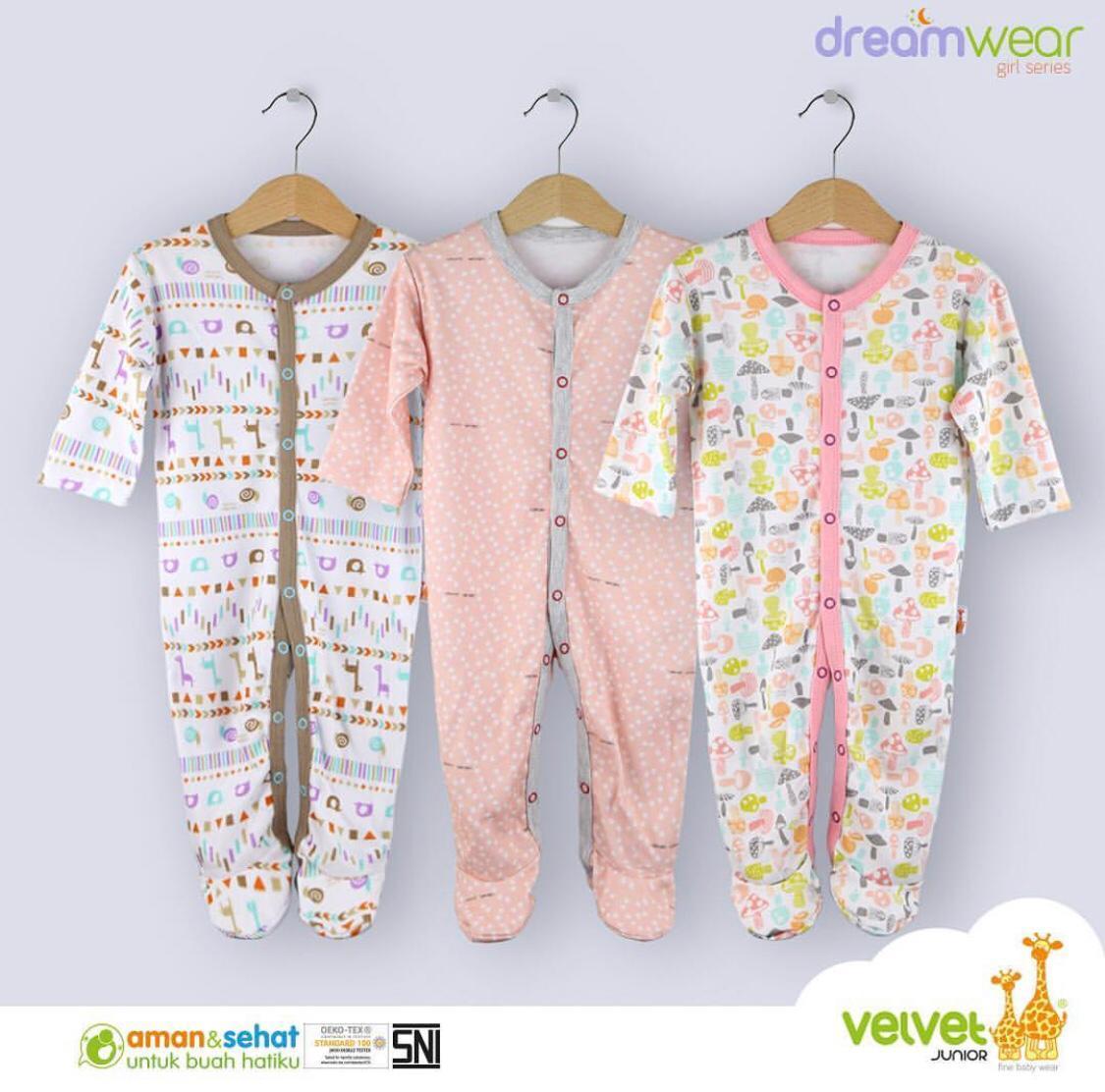 VELVET DREAM WEAR 3pcs Sleepsuit (Girl) PREMIUM Quality BigBabyShop