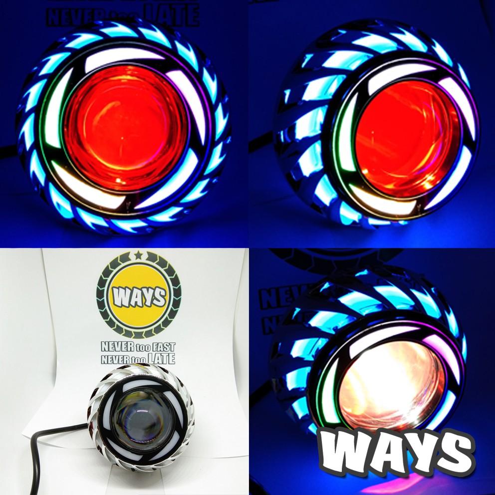 BAYAR DI RUMAH L070 Lampu Depan Projie Proji LED Kipas Motor Mio Soul GT Beat Xeon Xride Scoopy Fino Vixion Ninja - dhJvViIx