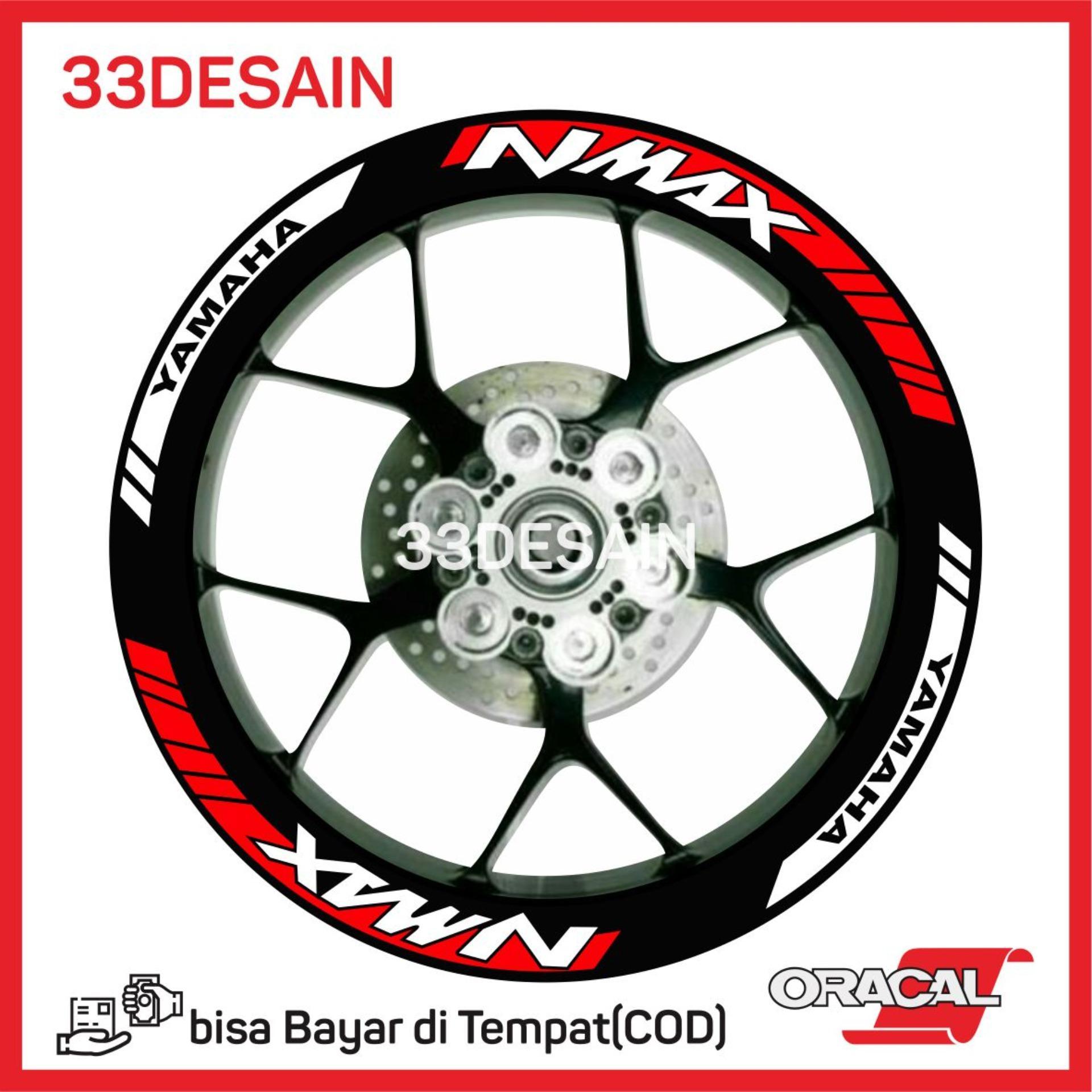 33Sticker - Aksesoris Motor Stiker Cutting 8 Velg Nmax - Merah - 33Desain