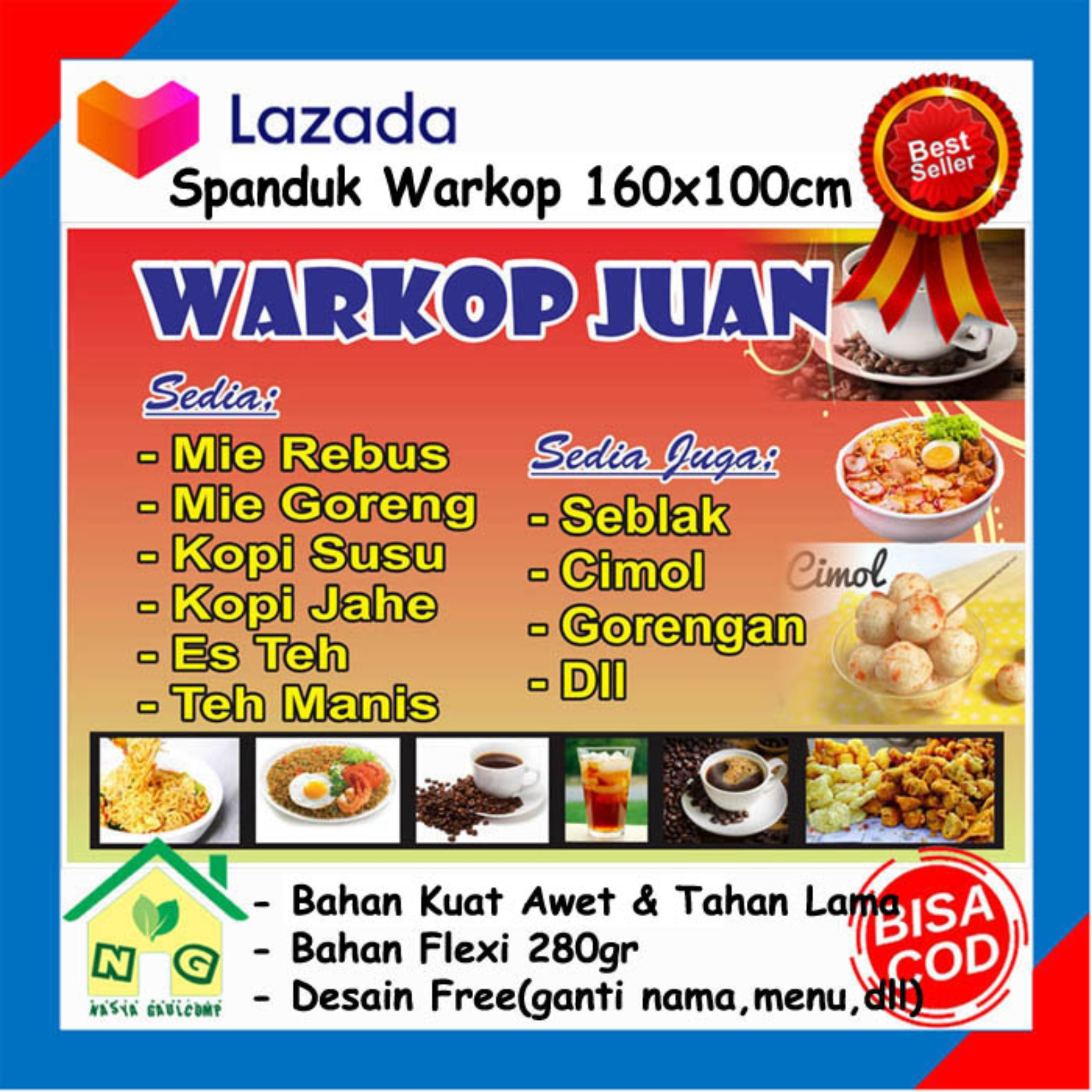 Contoh Spanduk Warkop - Jual Banner Warkop Murah Harga ...