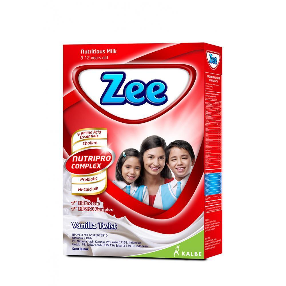 Zee Reguler Vanilla Twist Milk 350gr