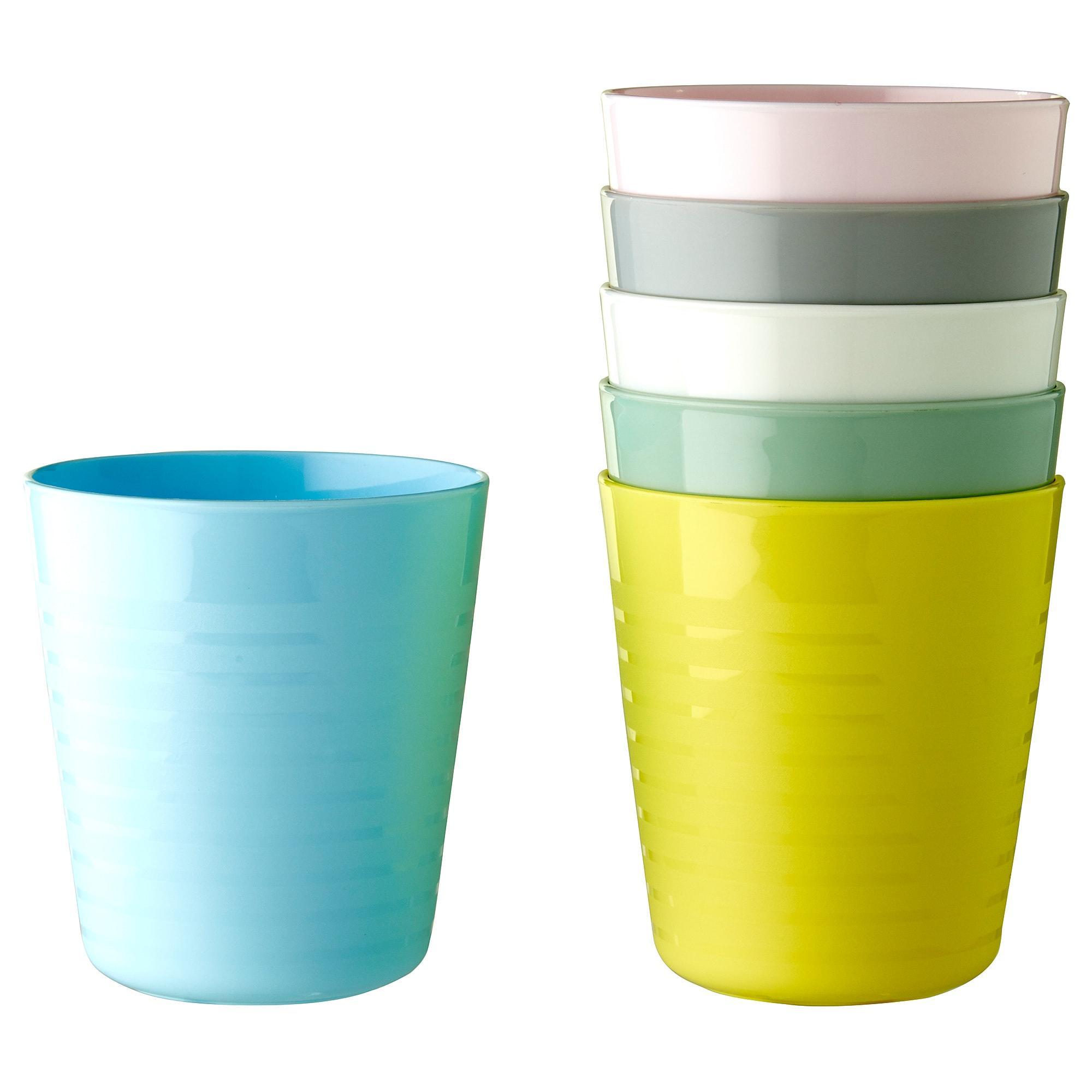 Ikea Kalas Gelas Plastik Anak Mug, Aneka Warna Warni Set Isi 6 Pcs By Health And Beauty Solution.