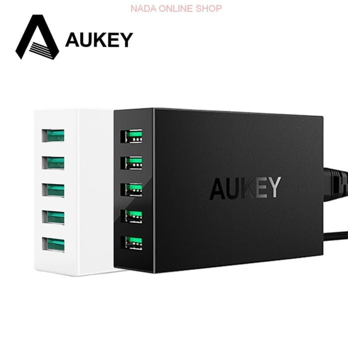 Aukey USB Charging Station 5 Port with AIPower Tech - PA-U33-Hitam