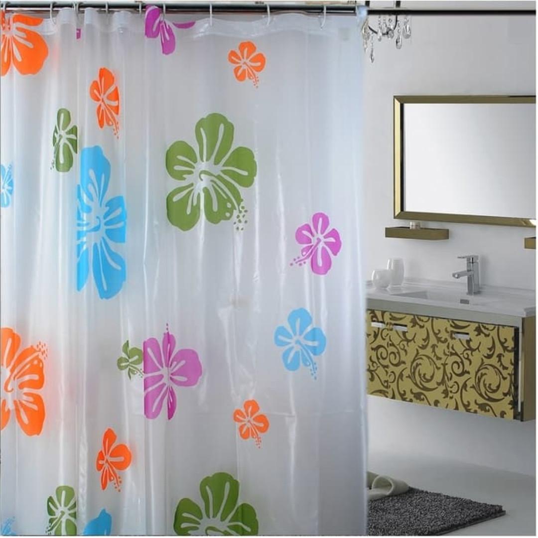 Exclusive Bathroom Curtains Tirai Kamar Mandi Lazada Indonesia