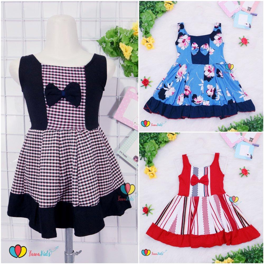 Dress Aurora uk 1-2 th  Dress Anak Perempuan Murah Tanktop Baju Anak Dress Import Lucu Adem Kensi
