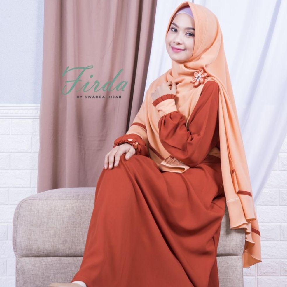 Gamis Firda Orange By Swarga Hijab Gamis Polos Gamis Swarga Gamis Terbaru Gamis Murah Lazada Indonesia