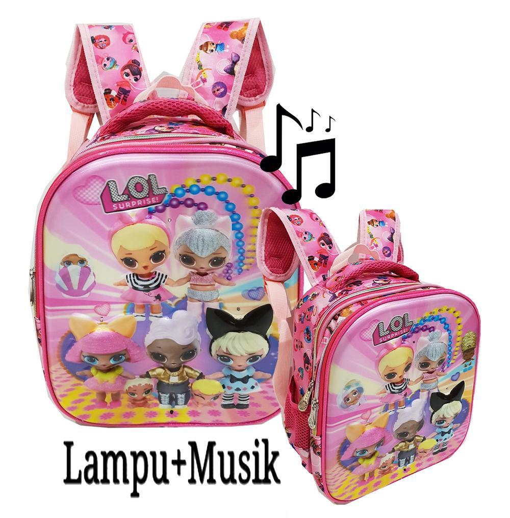 Onlan Tas Import Ransel Anak Sekolah TK Motif LOL - Little Pony - Tsum Tsum -