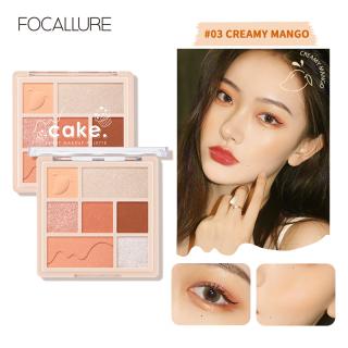 FOCALLURE Cake Makeup Palette High Pigment Glitter Matte Shimmer Seven Colors Eyeshadow Blush Highlighter Soft Texture Fine Powder thumbnail