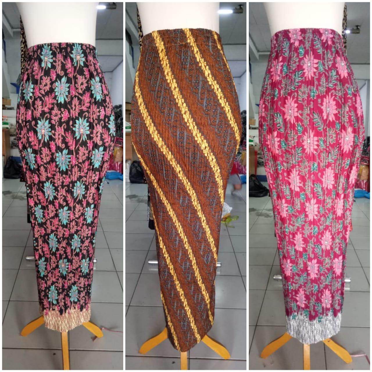 Glow Collection Rok span plisket panjang batik wanita jumbo long skirt Sasa