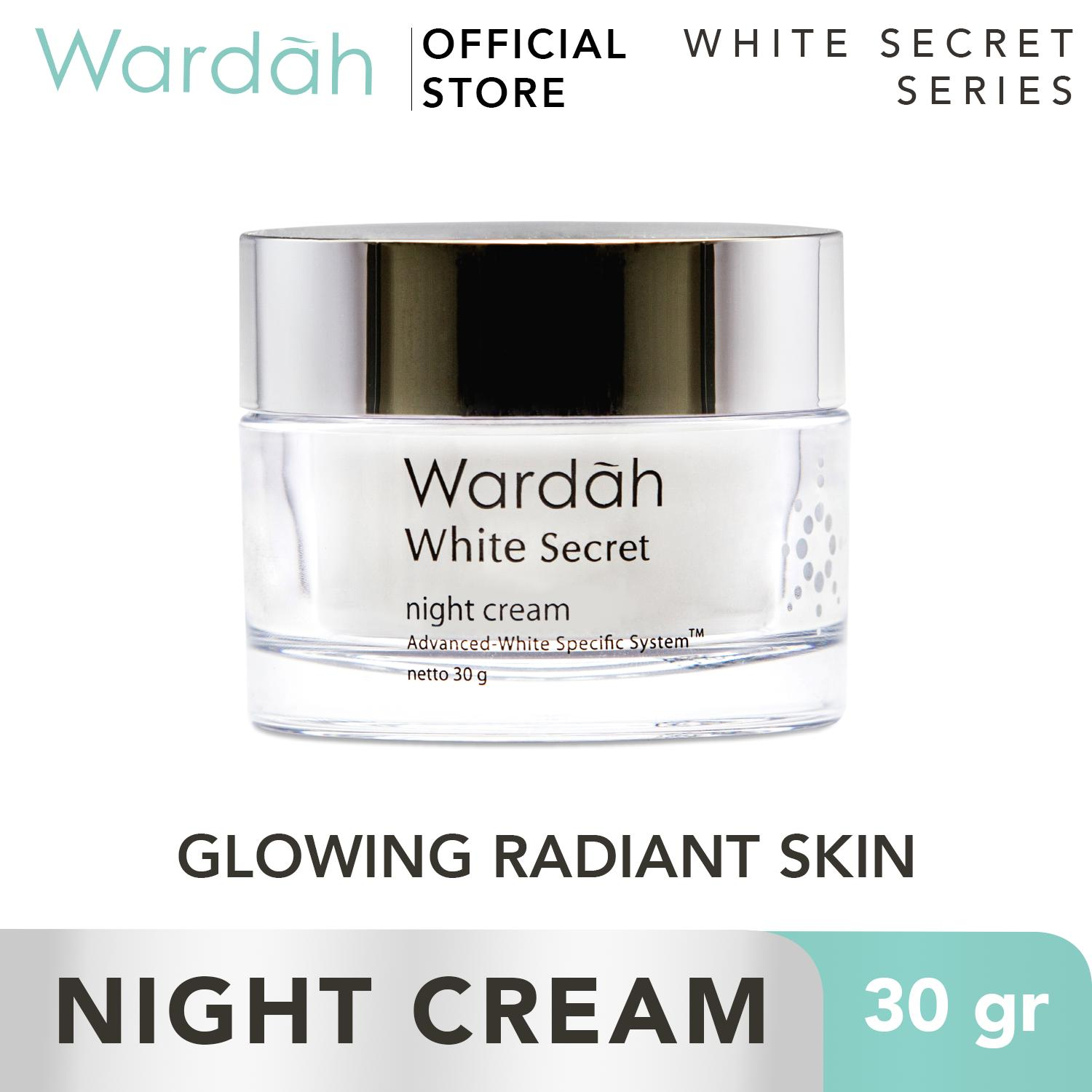 WARDAH White Secret Night Cream 30gr - Krim Malam - Skincare Wajah