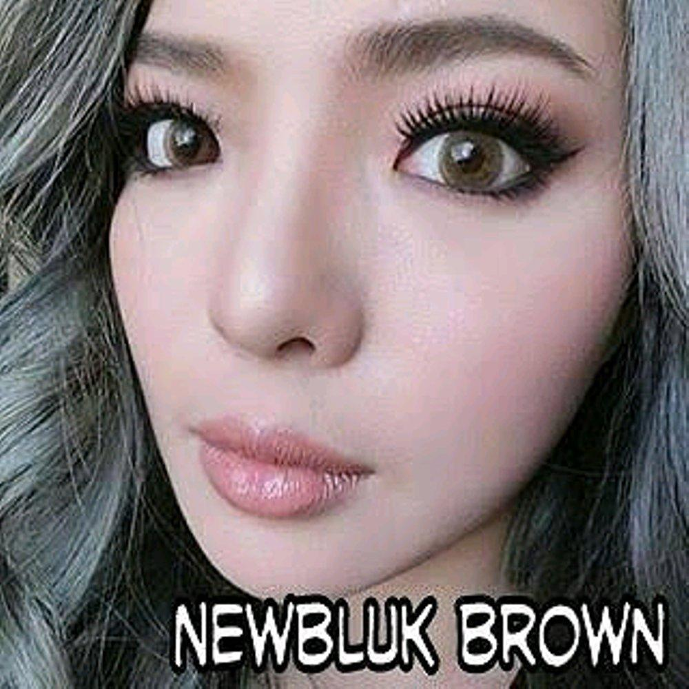 NewBluk Softlens - Coklat Brown + Gratis Lens case - Normal / Plano