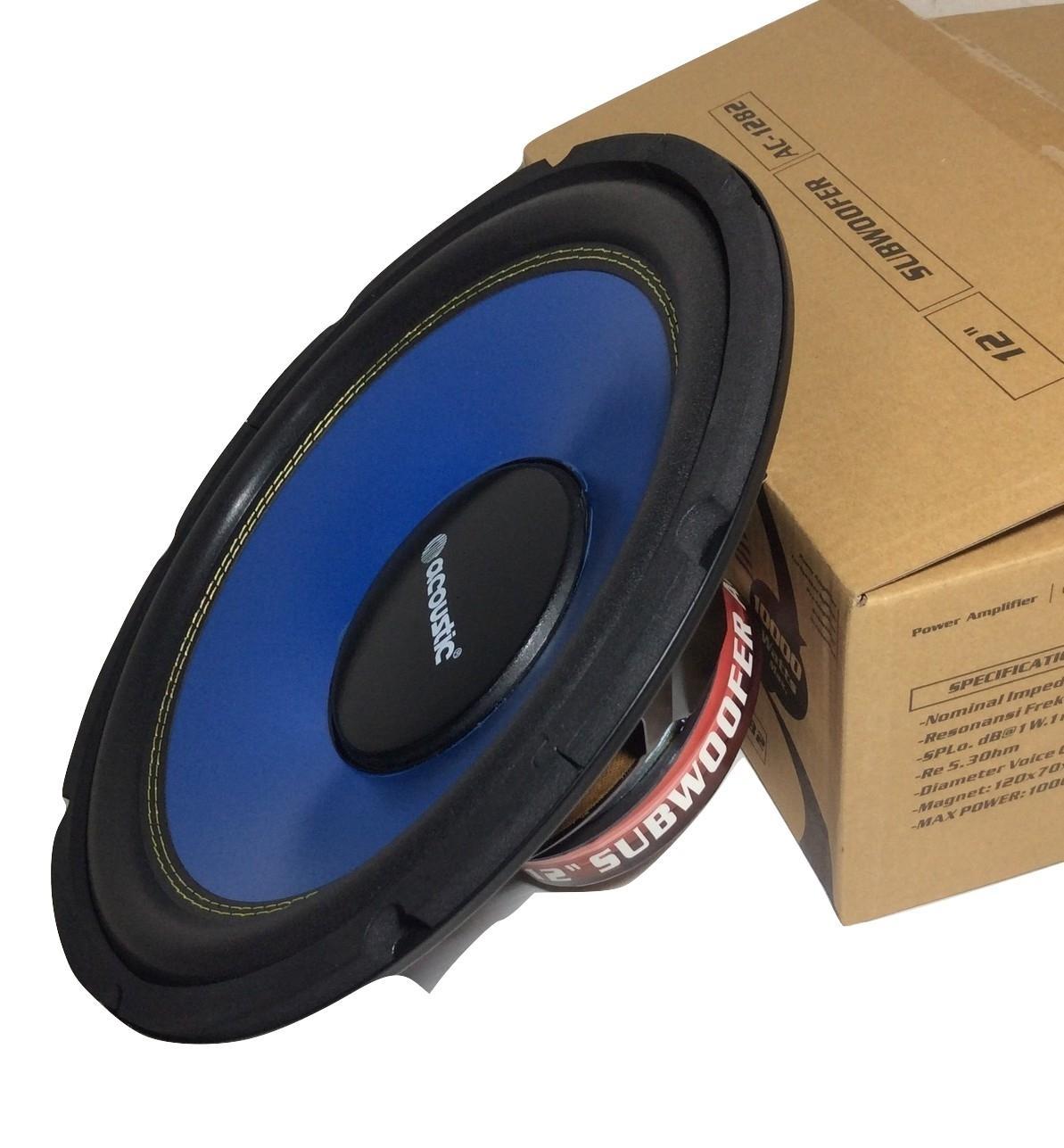 Acoustic AC1282 Speaker Subwofer 12 inch doble coil