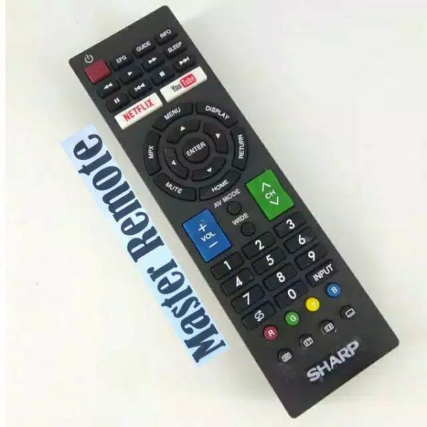 REMOT / REMOTE TV SHARP AQUOS LCD LED SMART TV NETFLIX YOUTUBE GB SERIES