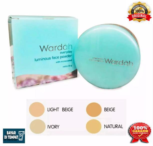 Wardah Luminous Powder 03 Ivory 30gram / Wardah bedak wajah 03 Ivory / Bedak tabur wajah Luminous Powder / Bedak wajah wardah / Bedak wajah untuk kulit berminyak