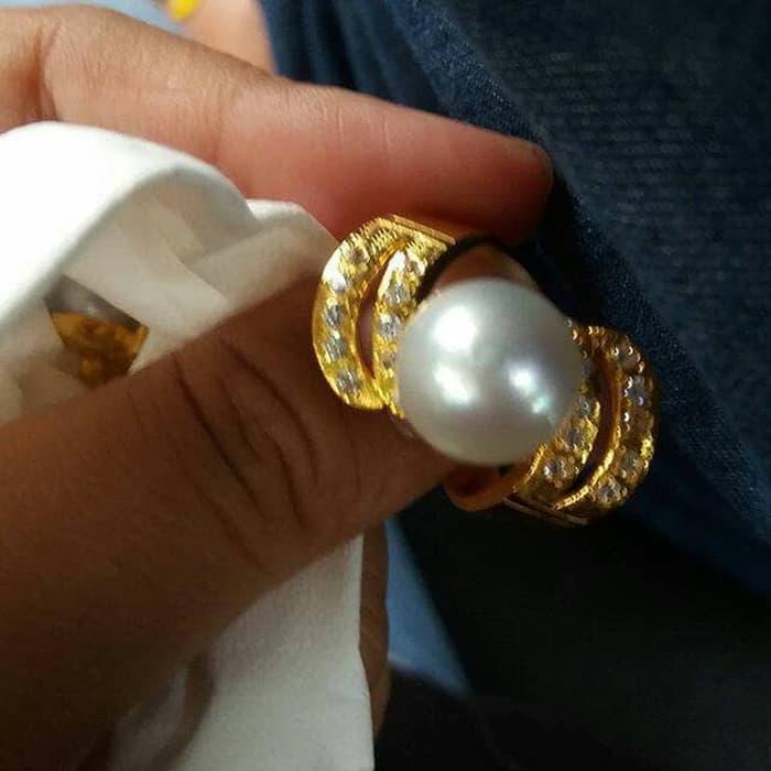 Cincin Perak Kerum Emas Mutiara Laut By Lombok_pearls.