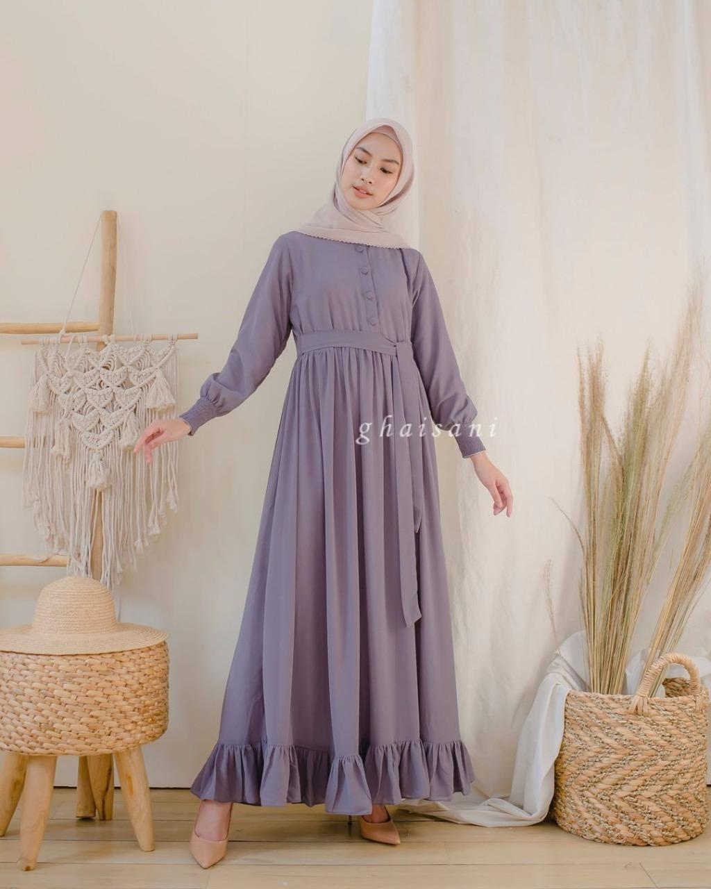 Marisa Dress / Baju Muslim & Jumpsuit / Long Dress Wanita / Long Dress Muslim / Dress Wanita / Dress Wanita Pesta / Long Dress Muslim / Long Dress Pesta / Baju Muslim Wanita / Gamis Wanita / Gamis Remaja Modern / Gamis Syari / Gamis Syar'i