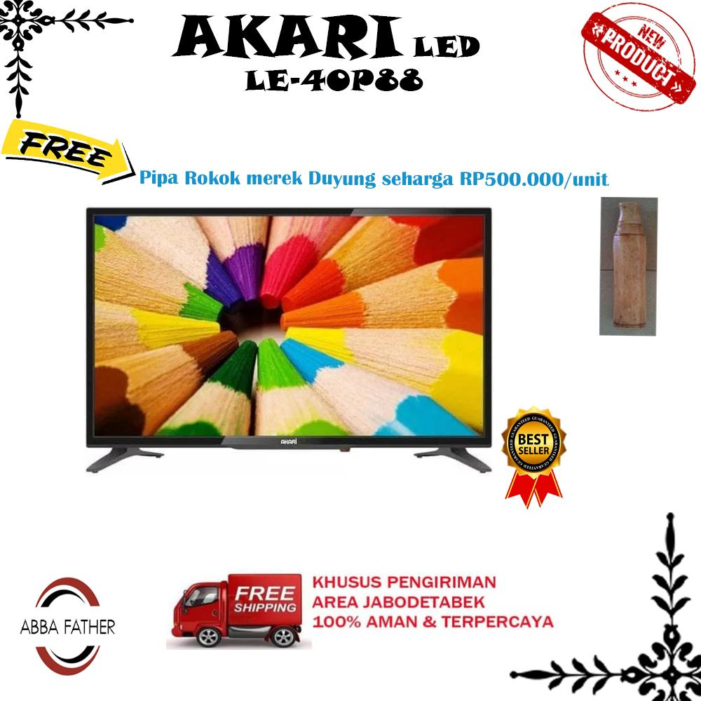 Akari LE-40P88 TV LED HD 40 Inch USB Movie-Free Ongkir Jabodetabek
