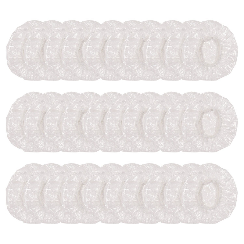 300 Pcs Disposable Ear Protectors, Clear Waterproof Ear Covers for Shower, Bathing, Hair Dye