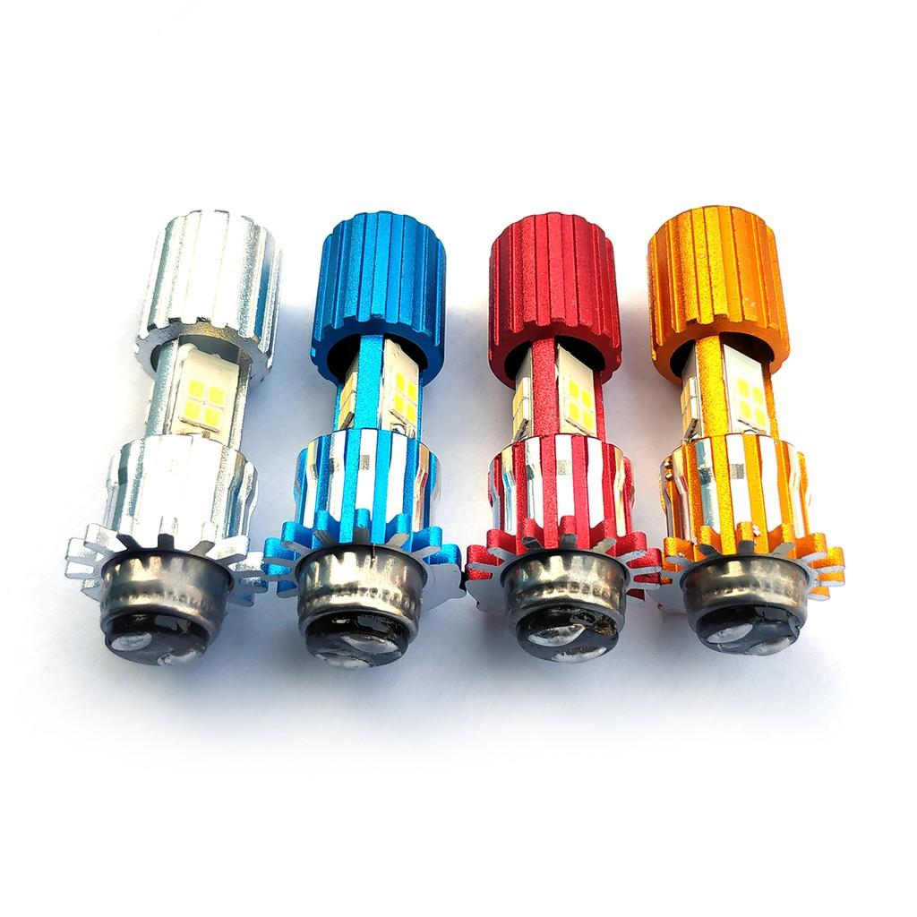 Lampu Depan LED 3 Sisi H6 AC/DC12V LED 3 Sisi Model Gerigi - Warna Super White Soket H6 matic bebek
