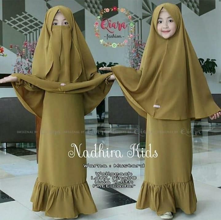 Nadira Kids Gamis Syari Free Hijab Cadar Gamis Syari Anak Perempuan Terbaru 2020 Baju Gamis Syari Anak 9 11 Tahun Baju Gamis Anak Wanita Baju Gamis Syari Anak Lazada Indonesia
