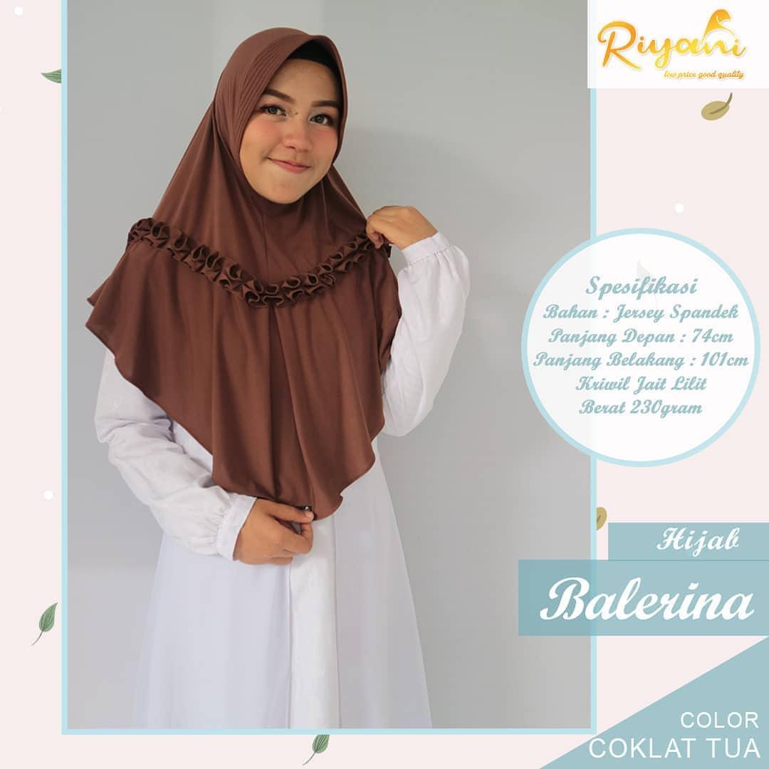Hijab Balerina By Riyani - Jilbab Kerudung Instan Harian Jersey Murah