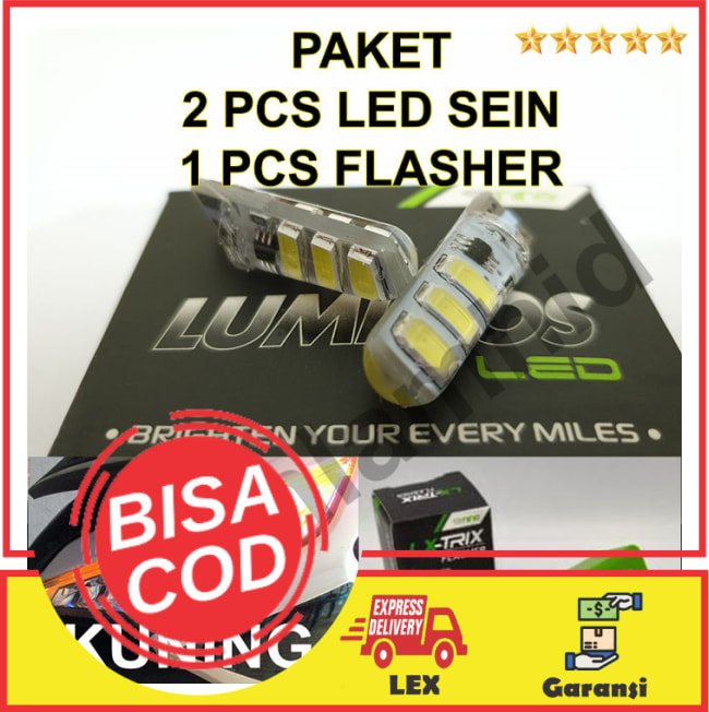 BAYAR DI TEMPAT!!Lampu LED Sein + Flasher Vario 125 eSP FI LUMINOS T10 5730 LED Sen || Lampu Motor || Bhid
