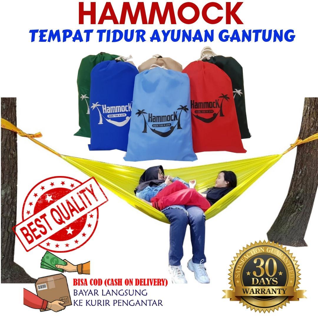 Promo!! Hammock Tempat Tidur Ayunan Kasur Gantung Camping Outdoor Kuat Ringan Praktis Pendaki Adventure Hiking Traveling Backpacking Murah By Antarestar.