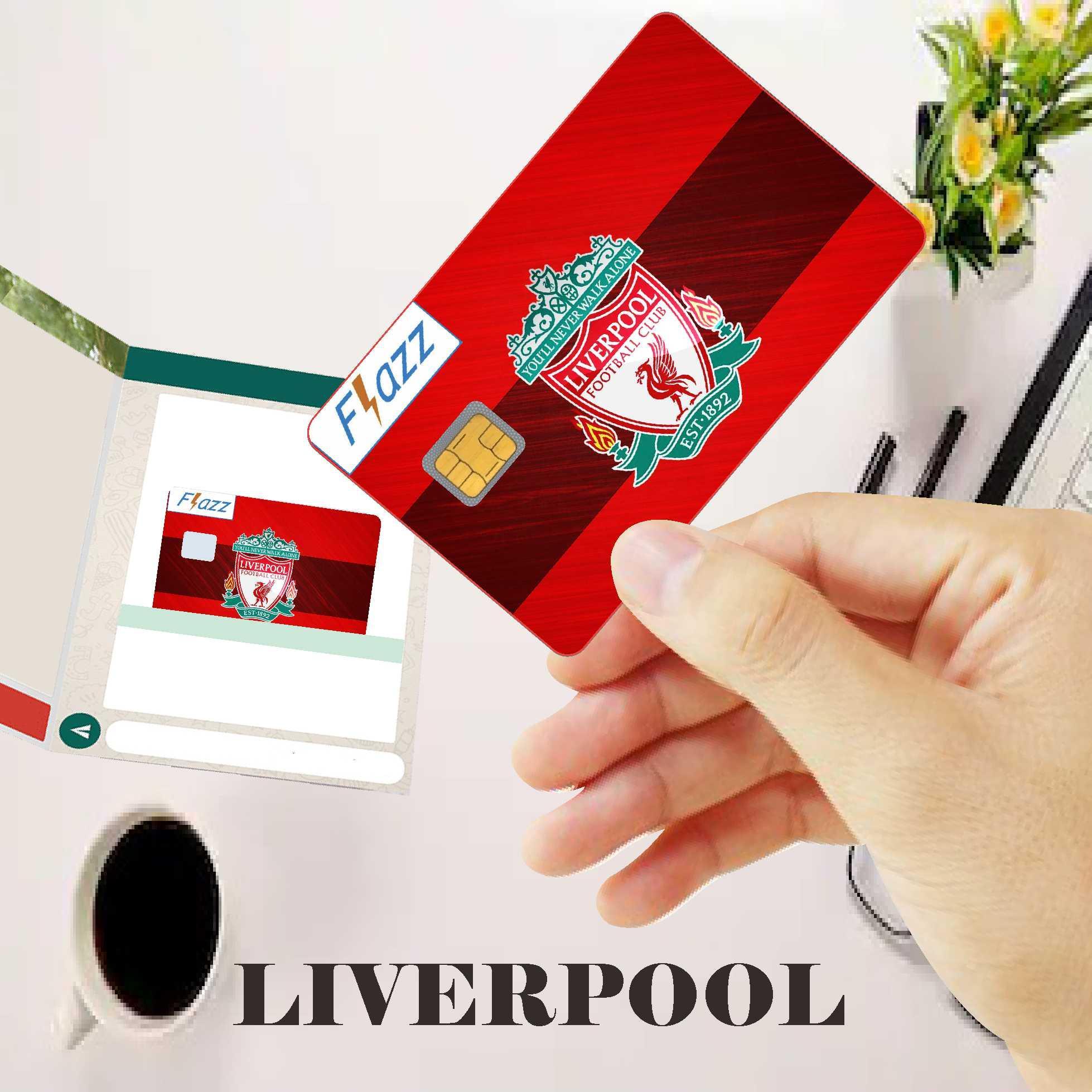 Stiker Sticker Bola LIVERPOOL Kartu Bank Flazz E money E toll