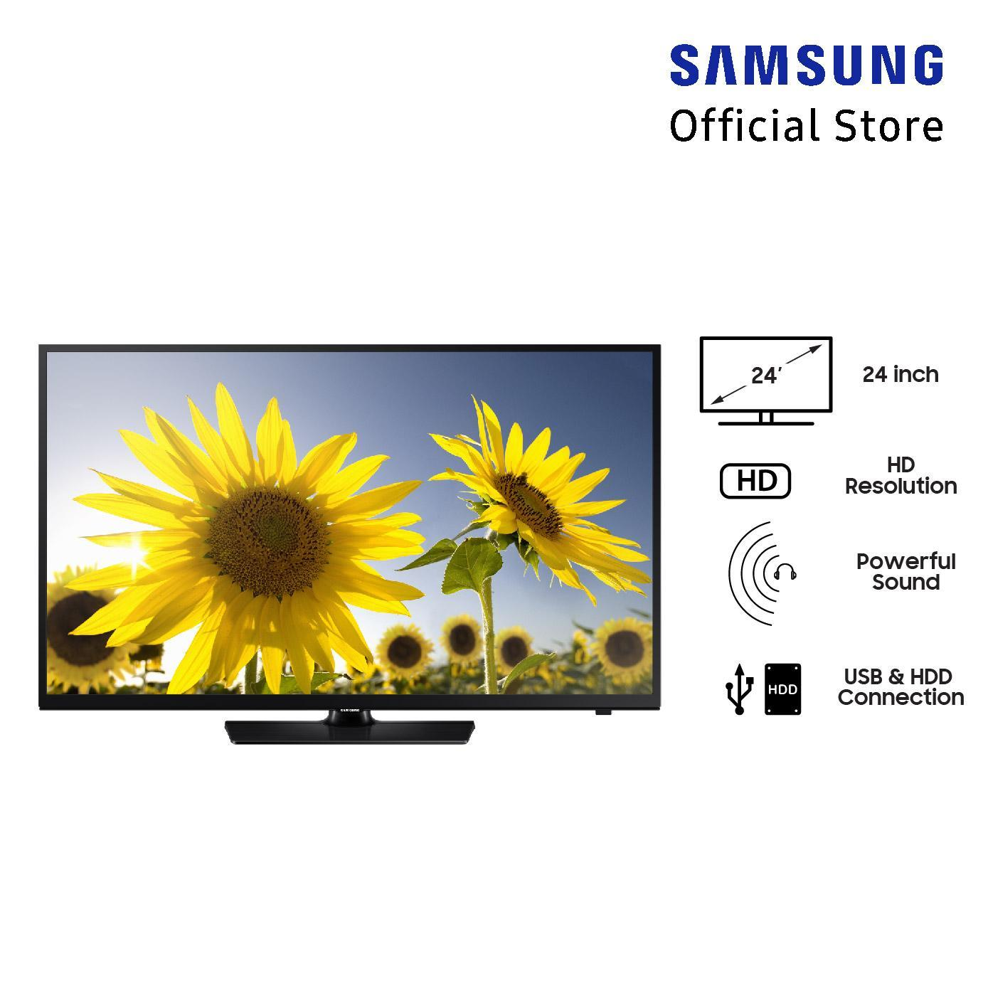 Samsung HD TV 24 inch (model: 24H4150 Series 4) Free Packing Kayu