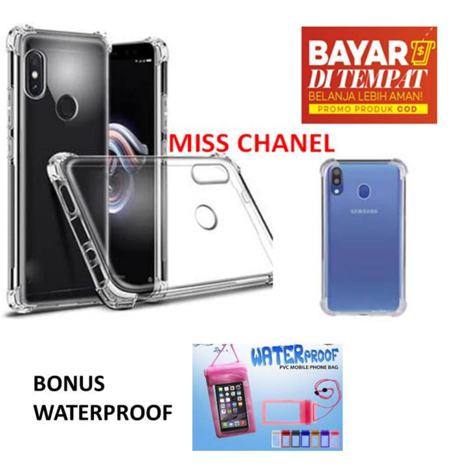 Case Anti Crack Samsung Galaxy M20  Case Anti Shock Samsung M20 / Softshell Shockproof / Casing Samsung / Silikon Case Samsung M20 - Bening BONUS WATERPROOF
