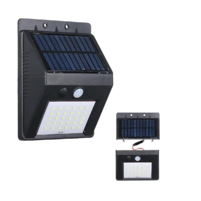 Lampu solar 30 LED taman tenaga surya panel terpisah dengan kabel - sedia paket lengkap power bank 900 mini 100wp 12v cas hp paket mini charger aku cell terumah raman terbesar transparan portable pembangkit listrik harga promo